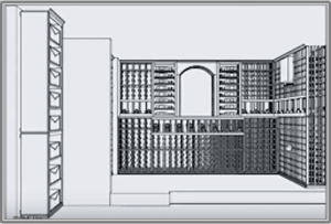Click here to learn more about 3D wine cellar design services.