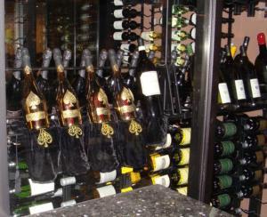 Modern Commercial Wine Cellar Display