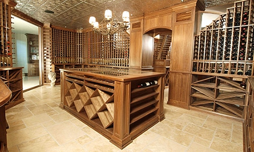 Traditional Modern Wine Cellar Builders Installers Quality Wood Miami florida