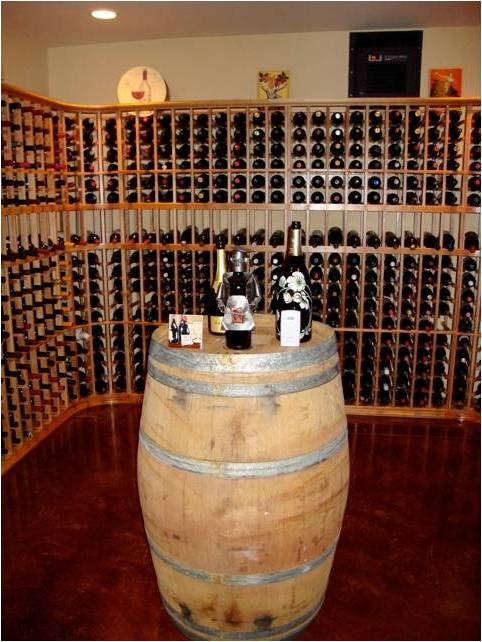 Custom Home Wine Cellar with an Efficient Cooling Unit Installed by Miami Master Builders