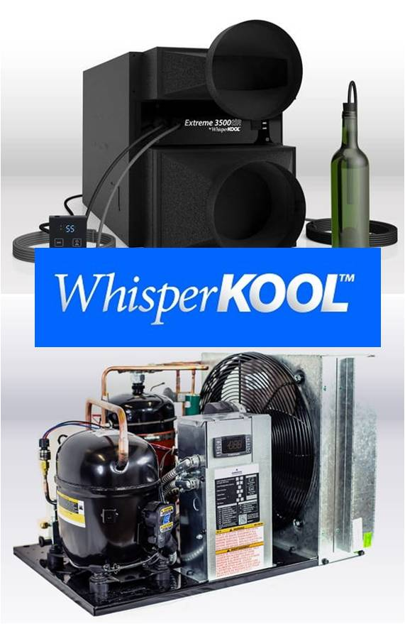 WhisperKOOL Wine Cellar Refrigeration Systems are Effective and Reliable