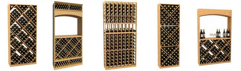 Kit Wooden Wine Racks Offered by Custom Wine Cellars Miami