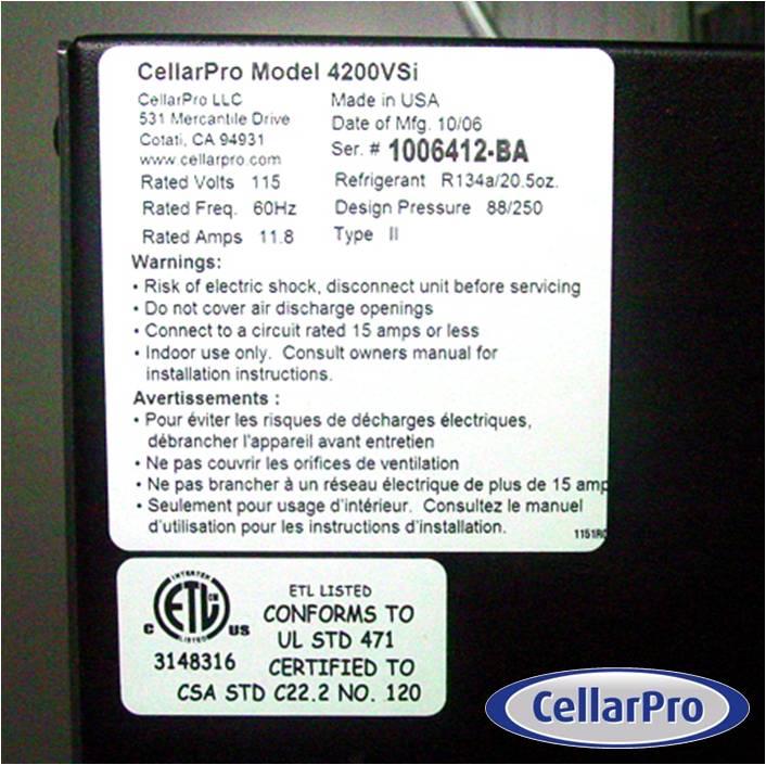 CellarPro Wine Cellar Refrigeration System USA Made