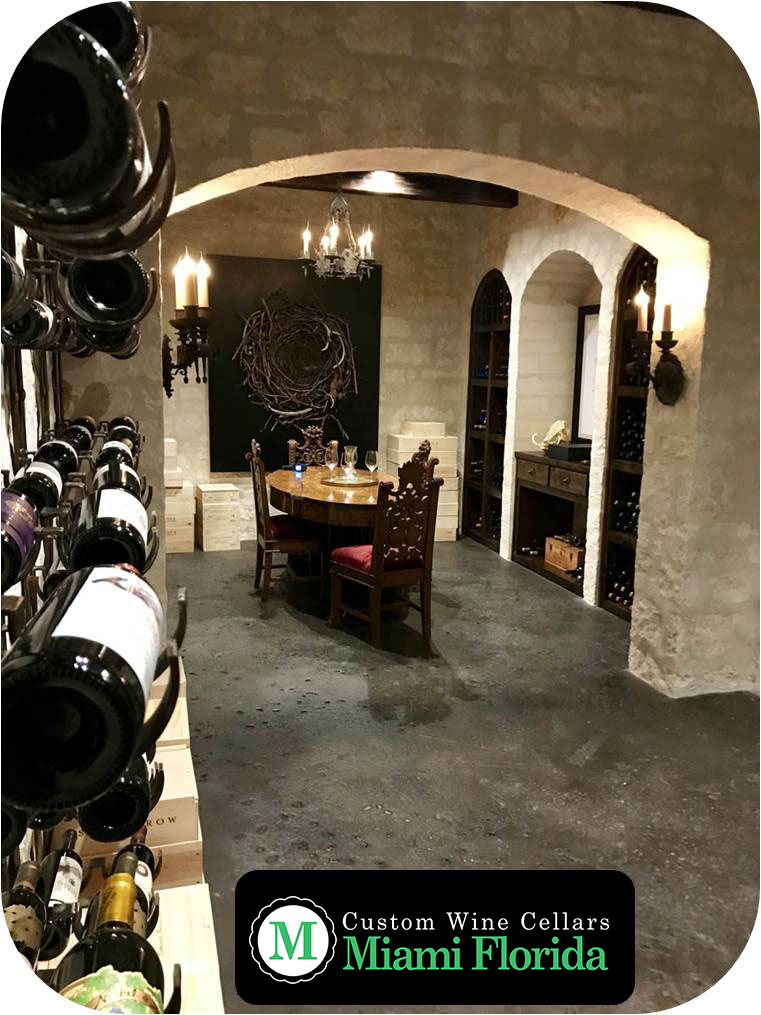 Custom Wine Cellar Equipped with a Reliable Wine Refrigeration System