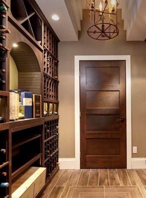 Stained Knotty Alder Custom Wine Racks