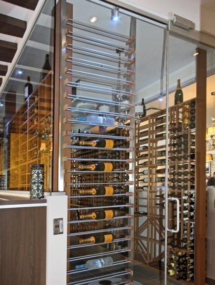 Unique Commercial Wine Display Designed by Miami Wine Cellar Installers