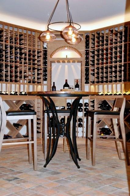 Elegant Custom WIne Cellar Designed by San Francisco Builders