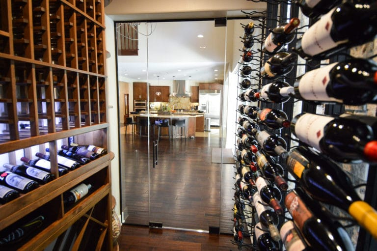 Transitional Residential Custom Wine Cellar