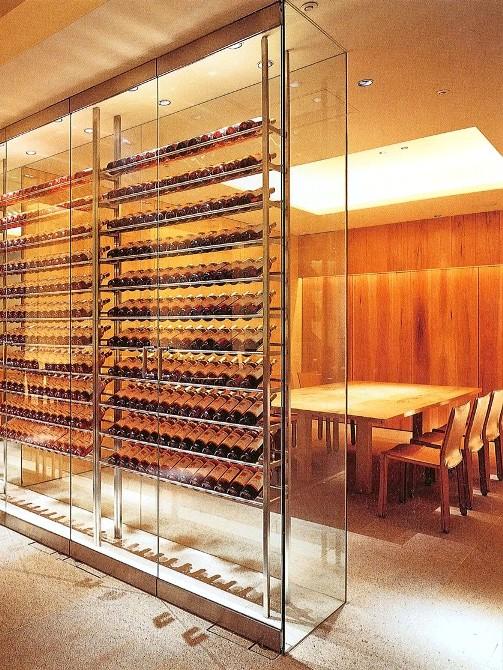Custom Commercial Glass Wine Cellar Door