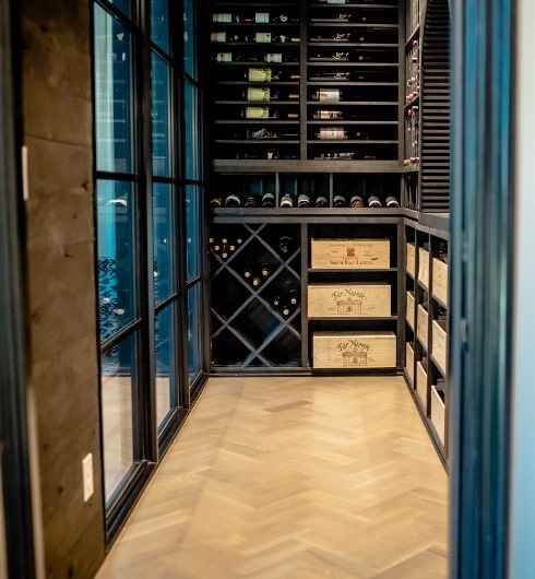 Custom Wine Cellar Built by Miami Expert Installers