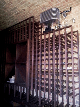 Wine Cellar Cooling Unit Installed by HVAC Experts in Miami