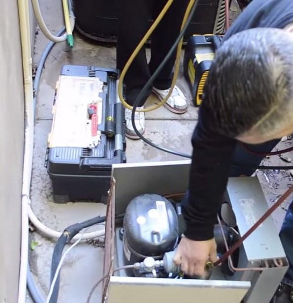 Wine Cellar Cooling Unit Leak Repair Miami