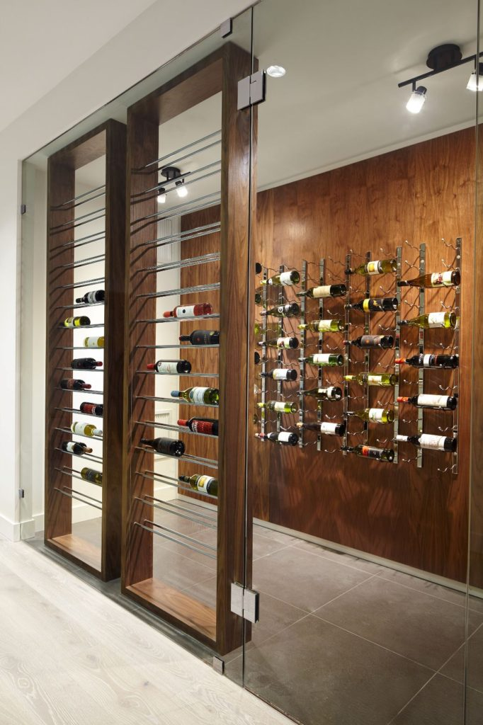 Beautiful Modern Custom Wine Cellar with Traditional Accents Miami