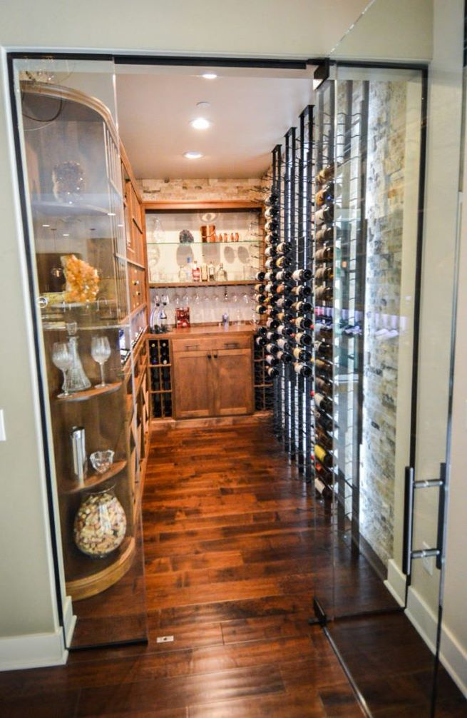 Transitional Custom Wine Cellar by Miami Builders