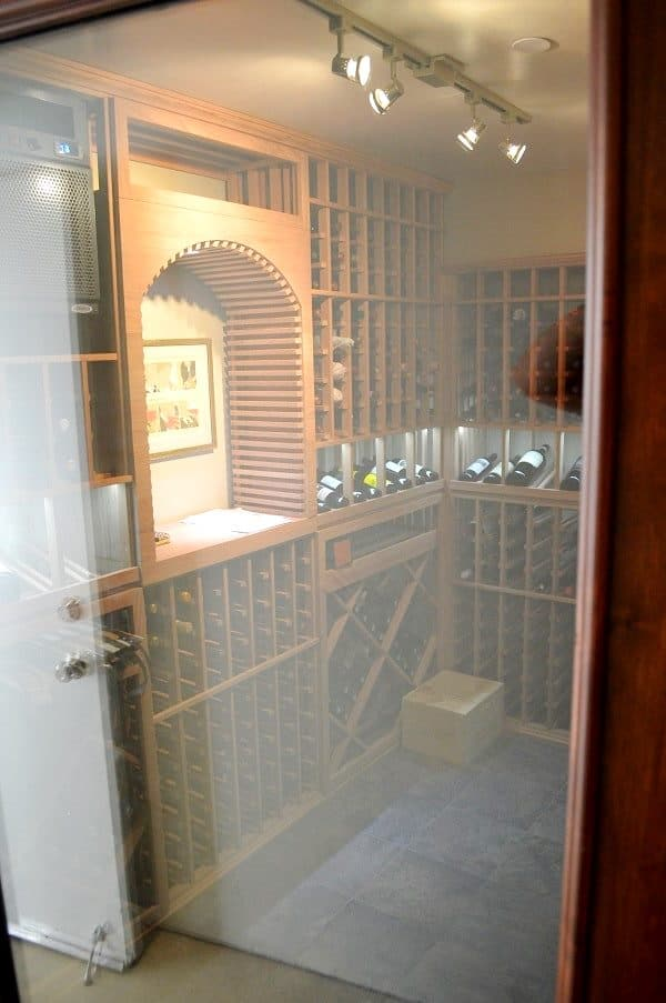 TRack Wine Cellar Lighting was Used for This Residential Custom Wine Room