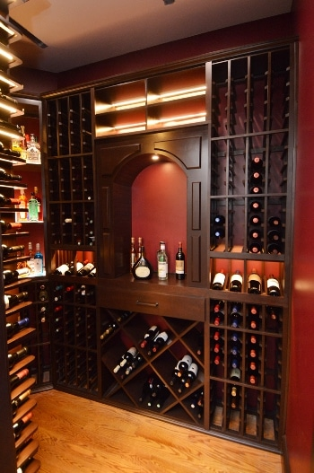 Rustic Wood Wine Cellar Racks