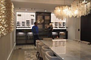 61 - Miami Florida Custom Back Lighting Wine Display Cellars Project Residential Designs