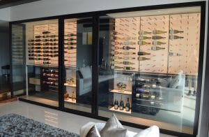 63 - Glass Wine Wall Cabinet Palm Beach Gardens