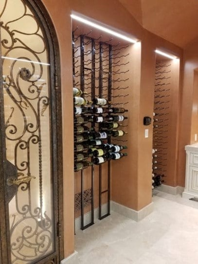 Stylish Wine Cellar Door and Contemporary Wine Racks